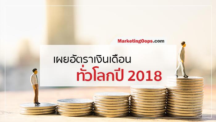 เผยรายงานอัตราเงินเดือนทั่วโลกปี 2018