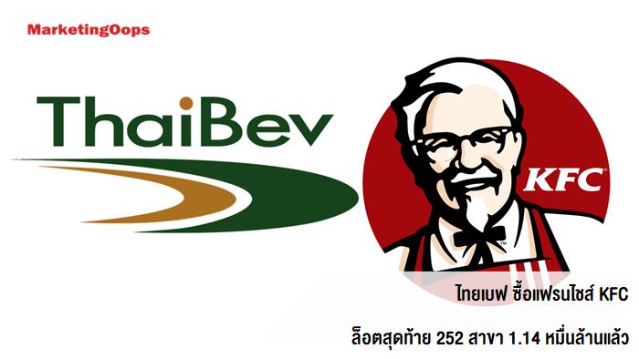 ไทยเบฟ ซื้อแฟรนไชส์ KFC ล็อตสุดท้าย 252 สาขา 1.14 หมื่นล้านแล้ว