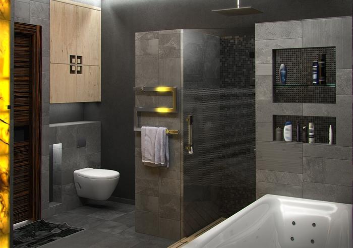 Bathroom grey_modern design