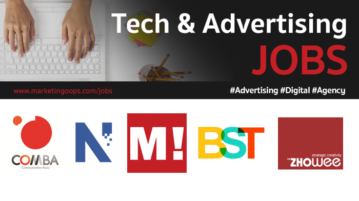 งานล่าสุด จากบริษัทและเอเจนซี่โฆษณาชั้นนำ #Advertising #Digital #JOBS 13-19 Jan 2018