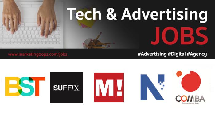 งานล่าสุด จากบริษัทและเอเจนซี่โฆษณาชั้นนำ #Advertising #Digital #JOBS 06-12 Jan 2018