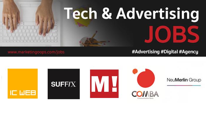 งานล่าสุด จากบริษัทและเอเจนซี่โฆษณาชั้นนำ #Advertising #Digital #JOBS 30 Dec 2017 – 05 Jan 2018