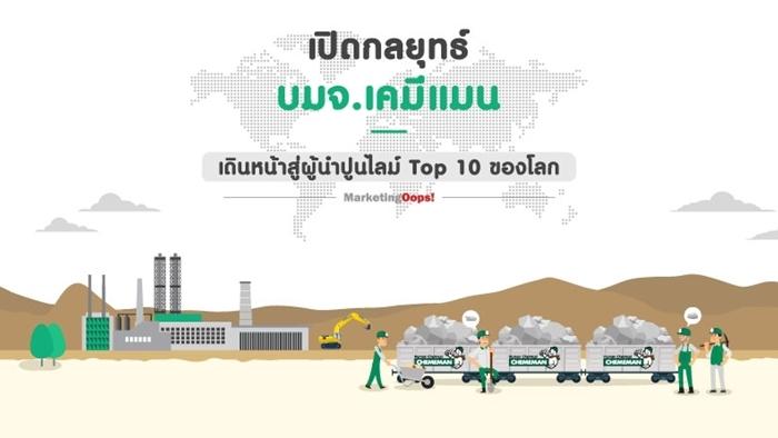 เปิดกลยุทธ์ บมจ.เคมีแมน เดินหน้าสู่ผู้นำปูนไลม์ Top 10 ของโลก