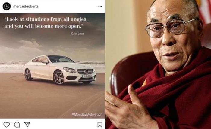 เป็นเรื่อง! Mercedes-Benz แถลงขอโทษจีน โค้ทคำพูด 'ดาไล ลามะ' ลงในอินสตาแกรม