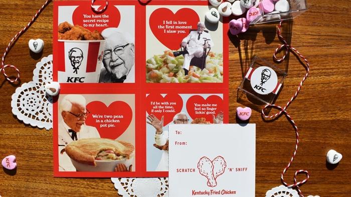 กลิ่นของความรัก KFC เปิดตัวการ์ดวันวาเลนไทน์กลิ่นไก่ทอดสูตรต้นตำหรับ