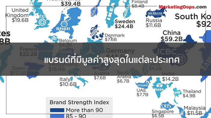 แบรนด์ที่มีมูลค่าสูงสุดในแต่ละประเทศ