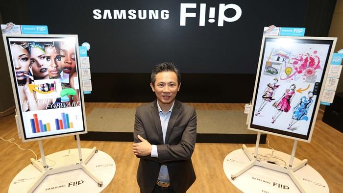 """จับตลาดสมาร์ทออฟฟิศ Samsung ส่ง """"Flip"""" ชาร์ทไฮเทค ตอบโจทย์ Interactive"""