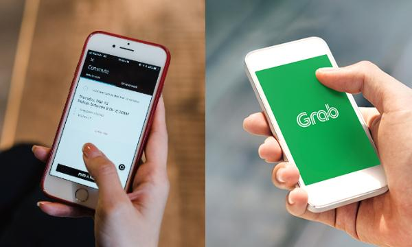 Uber and Grab apps