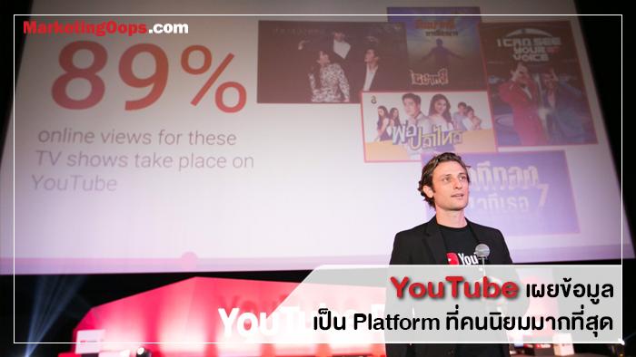 YouTube โชว์ผู้นำคอนเท้นต์ Re-Run พร้อมมอบรางวัล ชี้ช่อง 3 คนดูเพิ่มขึ้นเพราะละคร