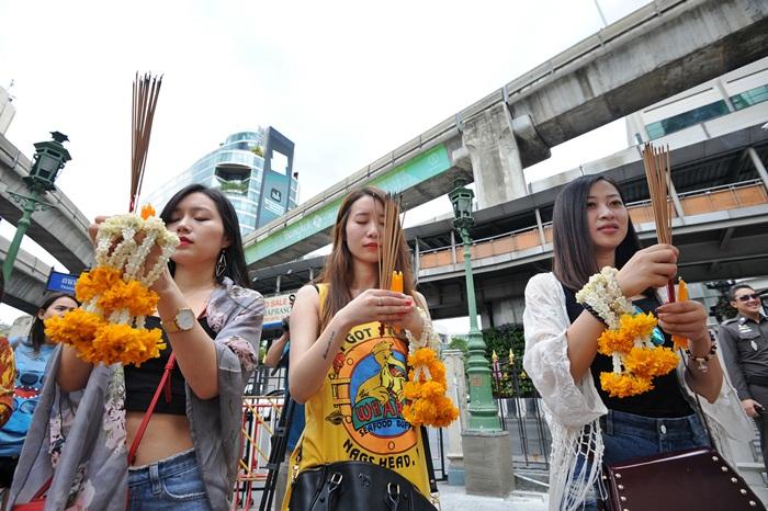 (WORLD SECTION) THAILAND-BANGKOK-ERAWAN SHRINE AFTER BLAST