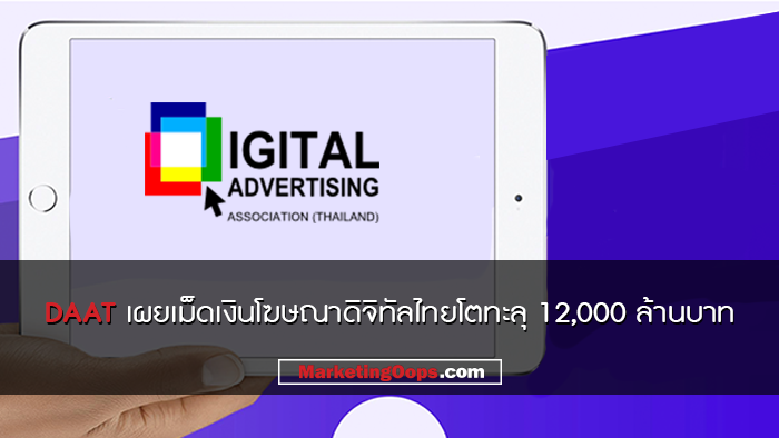 DAAT เผย เม็ดเงินโฆษณาดิจิทัลในไทยโตต่อเนื่องกว่า 31% มูลค่ามากกว่า 12,000 ล้านบาท