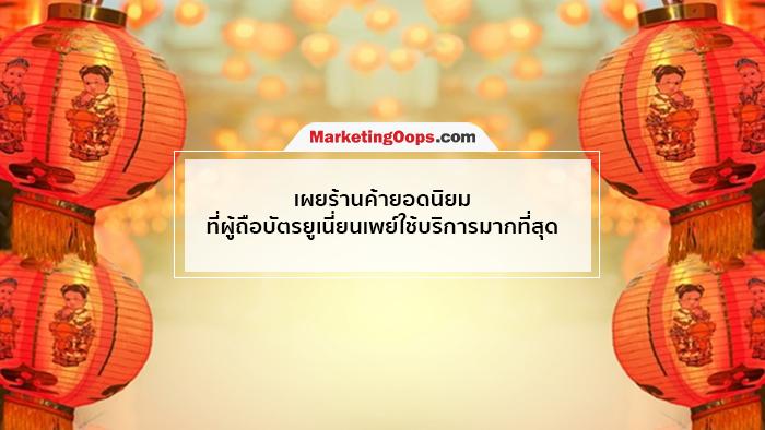 ควันหลงตรุษจีน ยูเนี่ยนเพย์ประเทศไทย ยอดใช้จ่ายพุ่ง 62%
