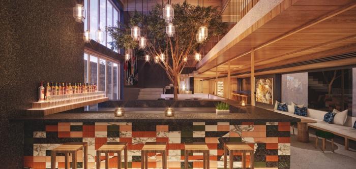 ดีไซน์ของบาร์ ASAI Hotel
