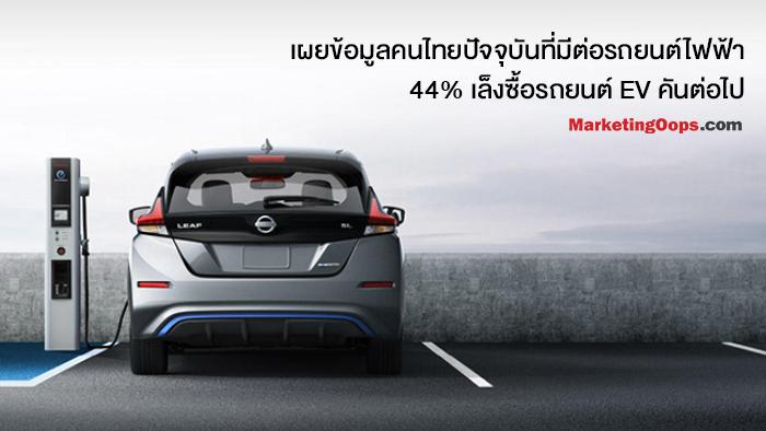 เผยข้อมูลผู้บริโภคต่อรถยนต์ไฟฟ้า หลังพบ 44% คนไทยเล็งรถไฟฟ้าเป็นคันต่อไป