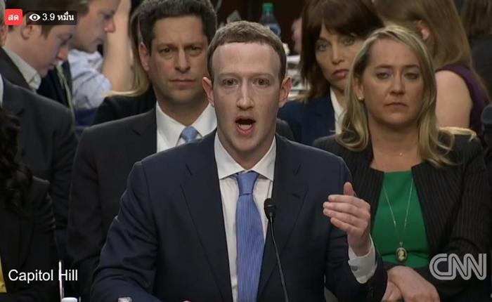 มาร์ค ขอโทษกลางสภาคองเกรส ยอมรับทำผิดพลาดเรื่องการป้องกันข้อมูลผู้ใช้งาน Facebook