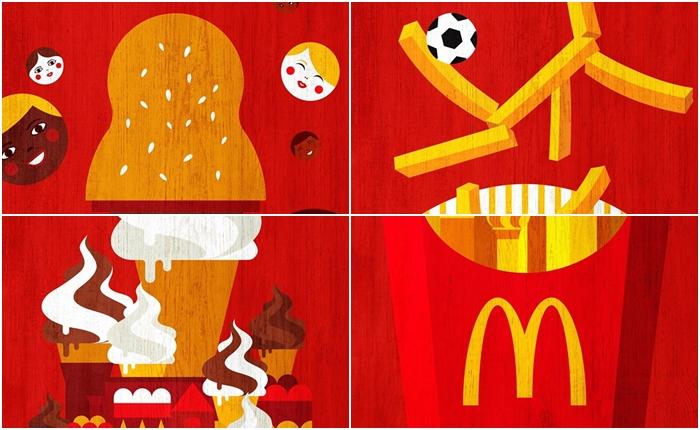 ตัวอย่าง Print Ad สุดยอดความลงตัวของ McDonald's ต้อนรับ World Cup