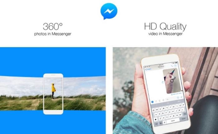 อัพเกรด Messenger สามารถส่งวิดีโอระดับ HD และ ภาพ 360 องศา ได้แล้ว