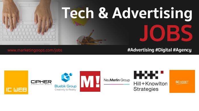 งานล่าสุด จากบริษัทและเอเจนซี่โฆษณาชั้นนำ #Advertising #Digital #JOBS 05-11 May  2018