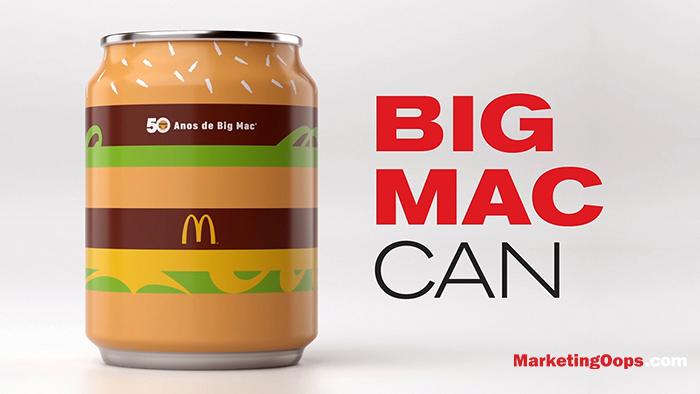 Big Mac Can เมนูพิเศษ Limited Edition ฉลองครบรอบ 50 ปีบิ๊กแมคจาก McDonald's Brazil