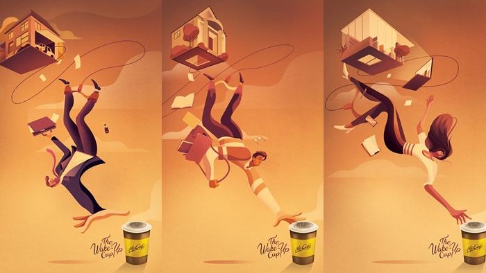 """""""The Wake-Up Cup!"""" Print Ads ที่เล่าเรื่อง Insight ของคอกาแฟ จาก McCafe"""