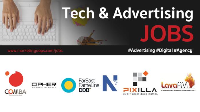 งานล่าสุด จากบริษัทและเอเจนซี่โฆษณาชั้นนำ #Advertising #Digital #JOBS 01 – 06 Jul 2018
