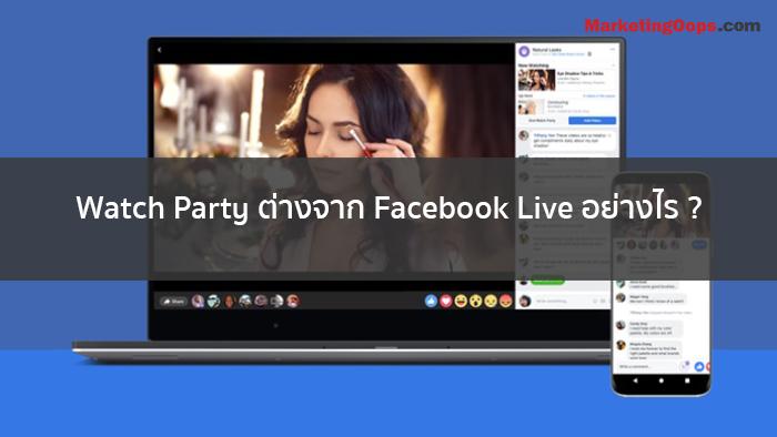 Facebook Watch Party ฟังก์ชันที่ทำให้คุณและผองเพื่อนรับชมวิดีโอพร้อมกันแบบเรียลไทม์