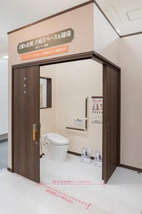 3 ประตูที่ปรับองศาการเปิดให้ได้ระยะกว้างขึ้น สำหรับผู้ใช้ wheelchair
