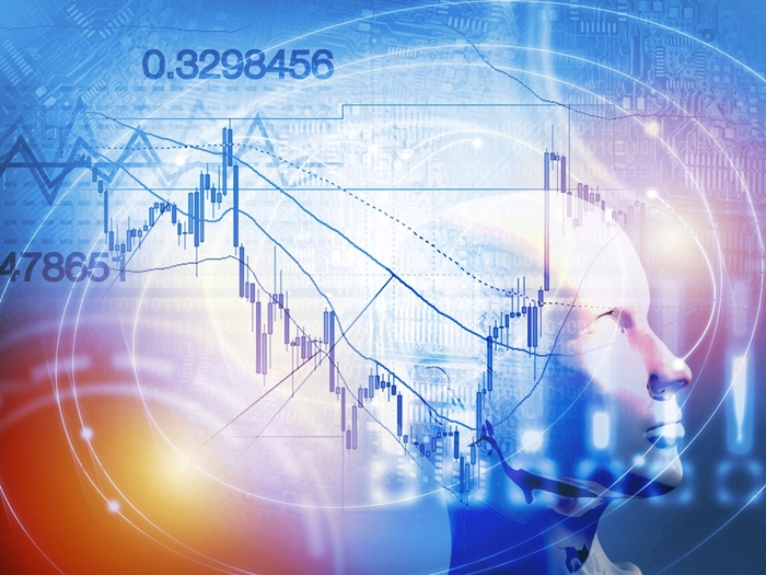 Quantitative stock and forex trading concept with artificial intelligence