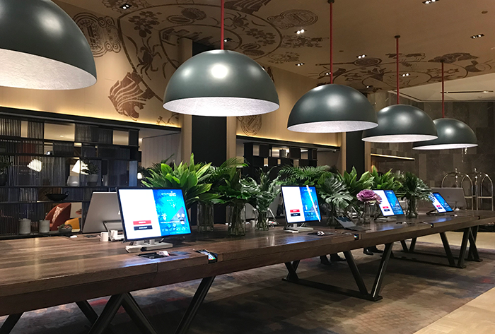 Automated hotel check in and check out at Swissotel the Stampford Singapore