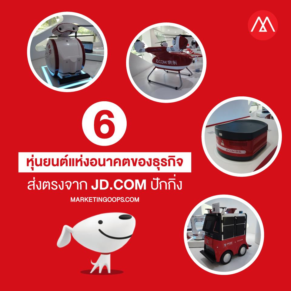 เปิด 6 หุ่นยนต์นวัตกรรมแห่งอนาคตของธุรกิจ ส่งตรงจาก JD.com ปักกิ่ง