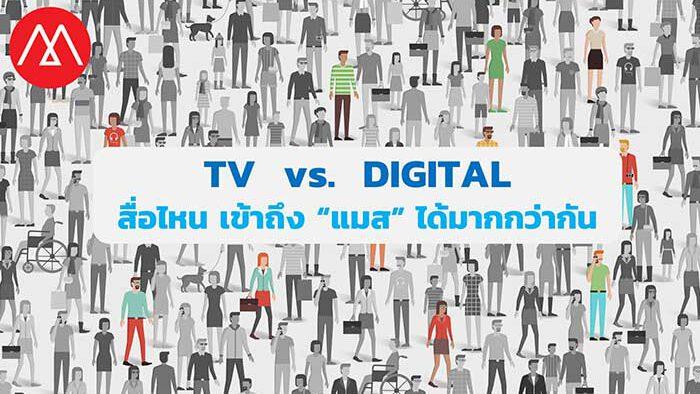 """4 บทพิสูจน์ """"อยากให้แคมเปญโฆษณาเข้าถึง แมส"""" สื่อทีวีอย่างเดียวไม่พอ ต้อง TV + Digital"""