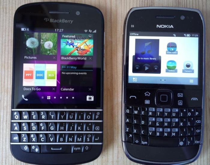 BB V Nokia
